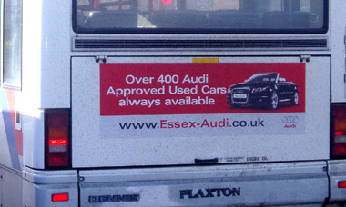 Essex Audi Bus Advertising